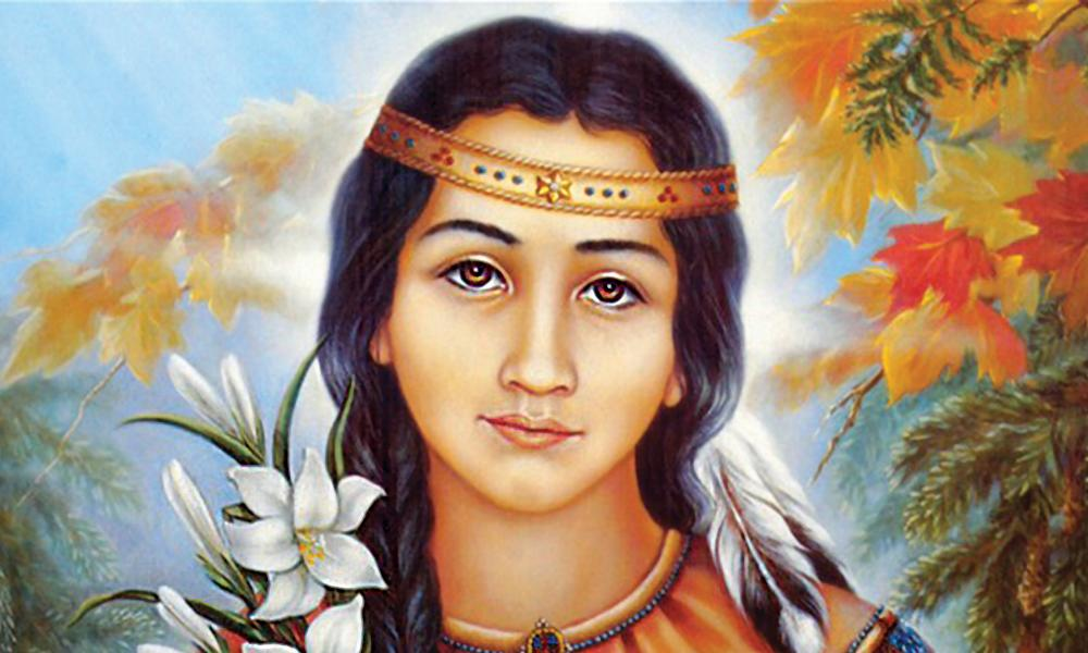 Lily of the Mohawks, Saint Kateri Tekakwitha, Feast Day July 14