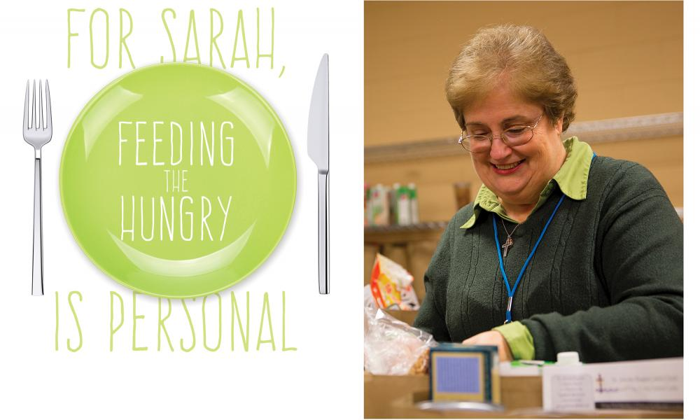 For Sarah feeding the hungry is personal