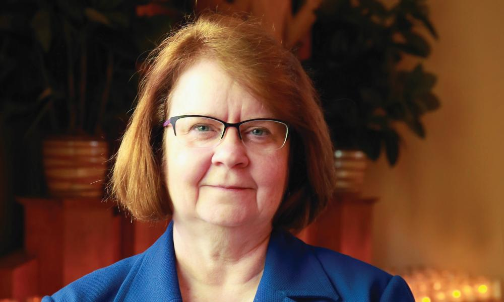 Donna's financial expertise helps keep diocese and parishes strong