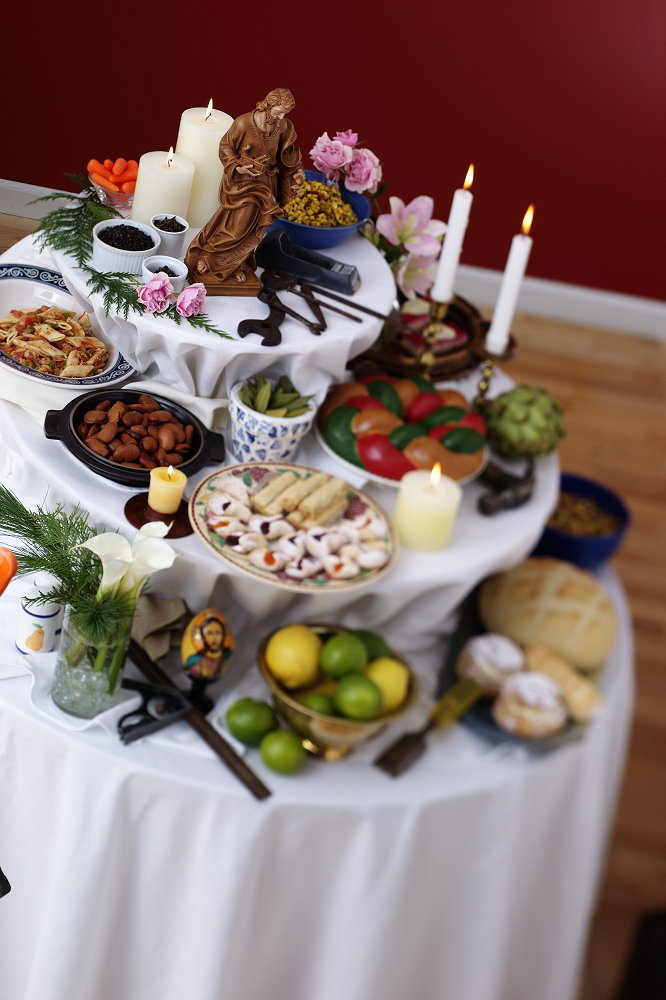 A feast spread on St. Joseph's Table