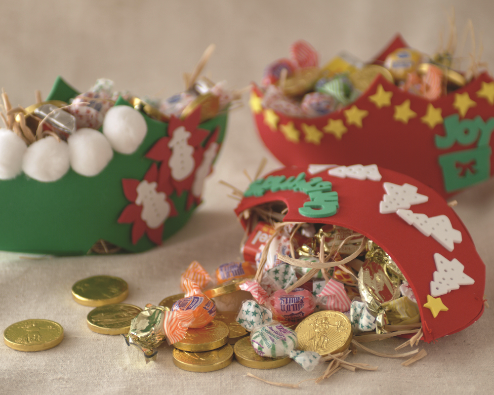 Children's craft filled with Candy for St. Nicholas