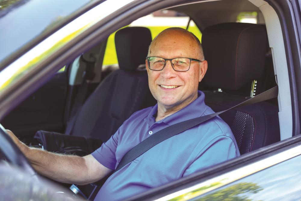 As a volunteer driver, Gary shares his faith